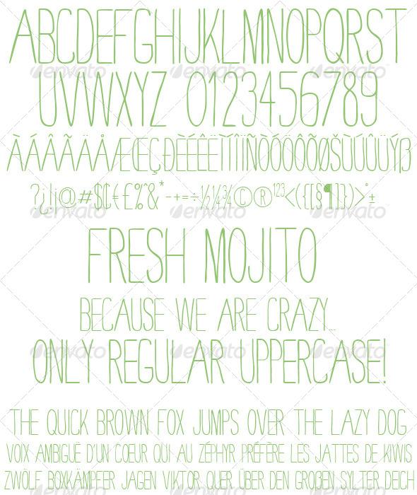 GraphicRiver Fresh Mojito Clean TrueType Font File 5319304