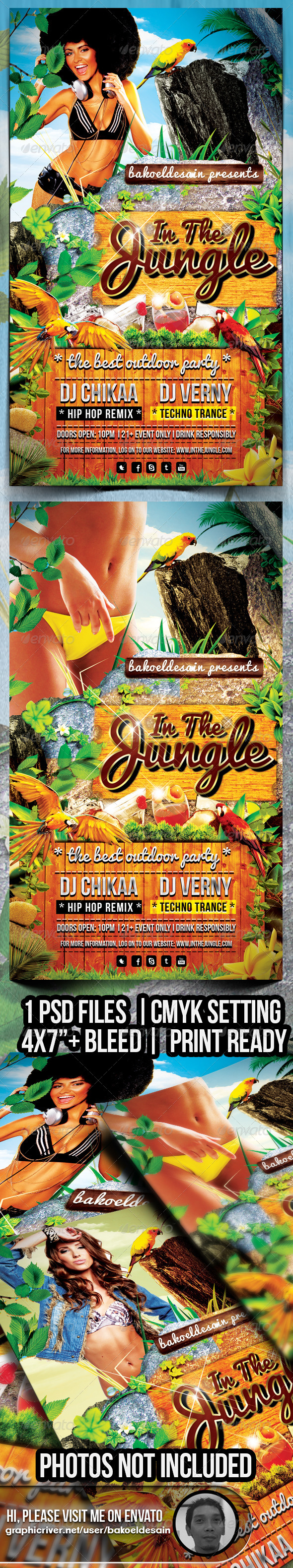GraphicRiver In The Jungle Party Flyer 5256922