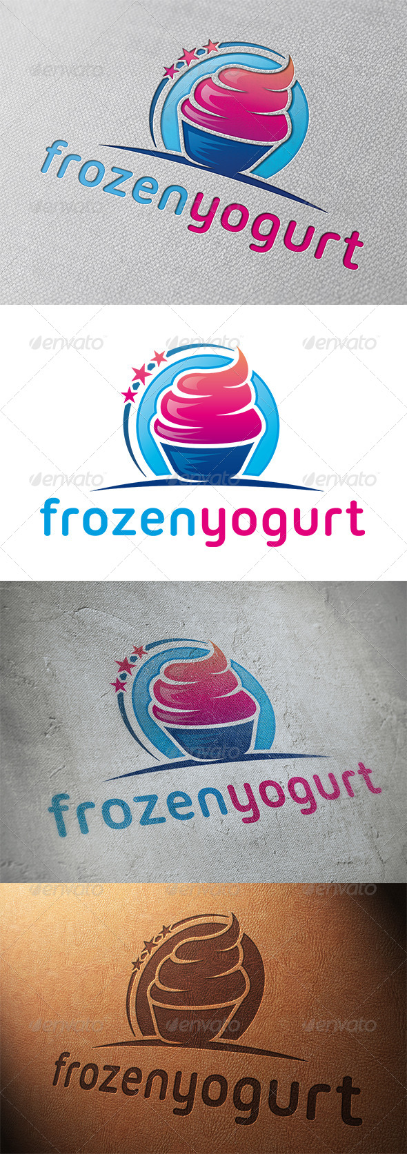 GraphicRiver Frozen Yogurt Logo Template 5319650