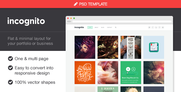 Incognito Portfolio & Business PSD Template