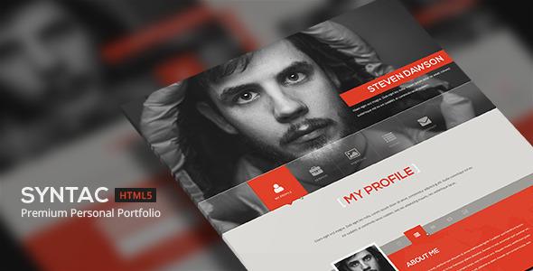ThemeForest Syntac Premium Personal Portfolio HTML5 Template 5308295