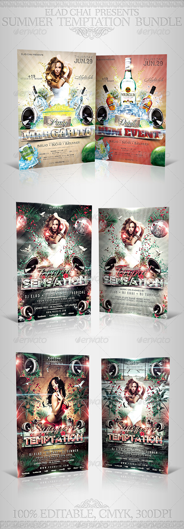 GraphicRiver Summer Temptation Flyer Bundle 5321132