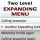 Premium Two Level Expanding Menu - ActiveDen Item for Sale