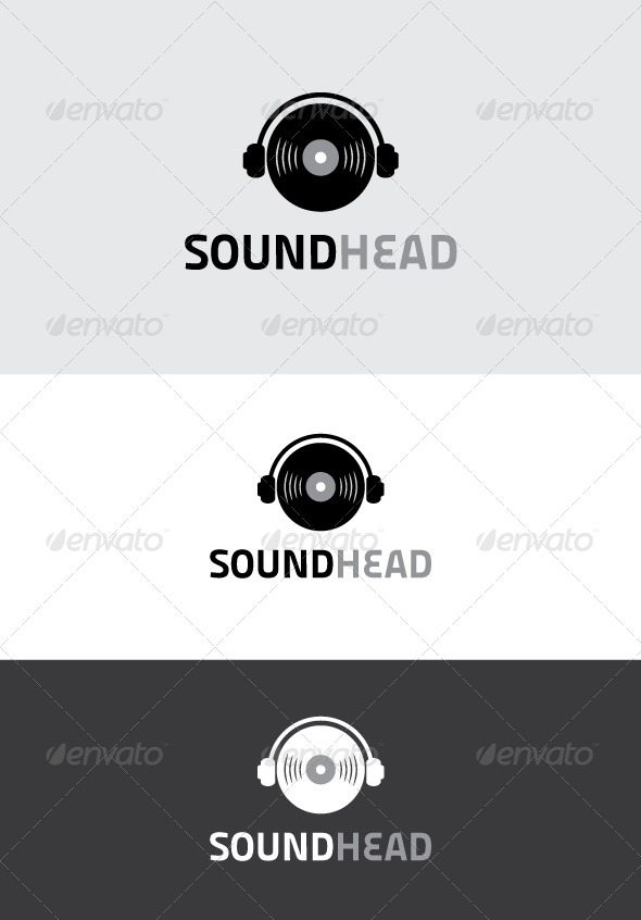 GraphicRiver Sound Head Logo 5322954