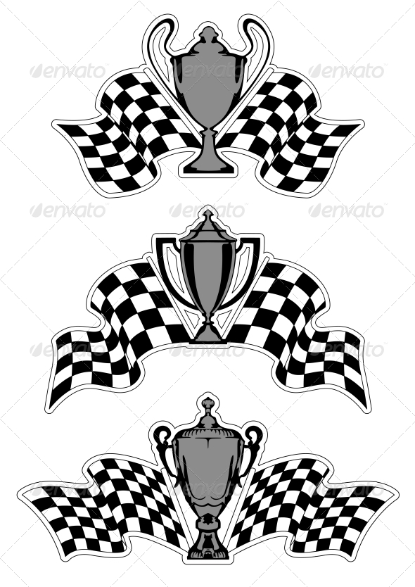 GraphicRiver Racing Sport Awards and Trophies 5323508