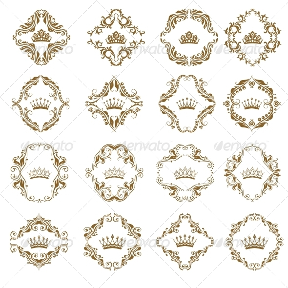 GraphicRiver Victorian Crown and Decorative Elements 5324626