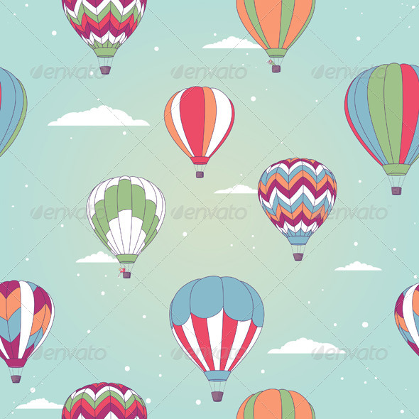 GraphicRiver Retro Hot Air Balloons 5324633