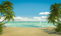 idyllic caribean beach view copy space - PhotoDune Item for Sale