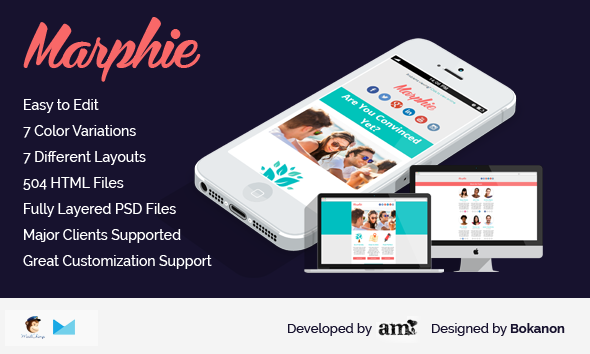 Marphie - Business Responsive Email Template - Newsletters Email Templates