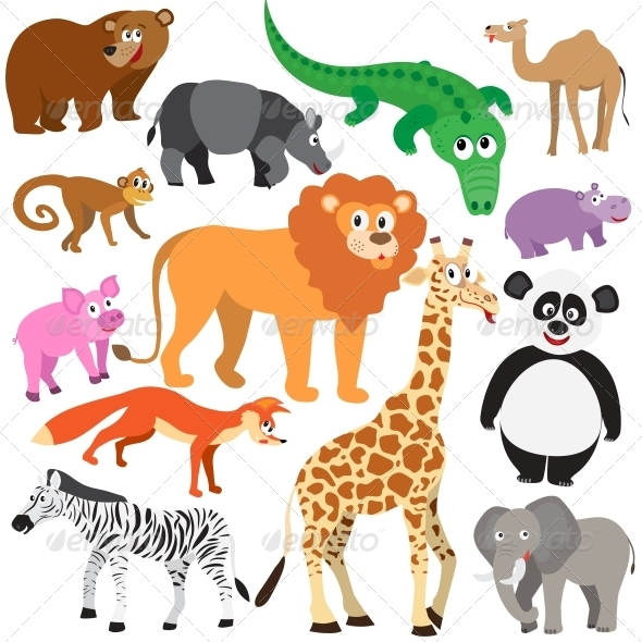GraphicRiver Set of Animals 5326008