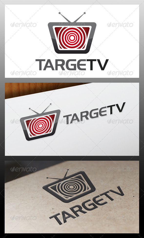 GraphicRiver Target Tv Logo Template 5326091