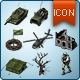 Map Icons and Elements - V.3 Military Set - GraphicRiver Item for Sale