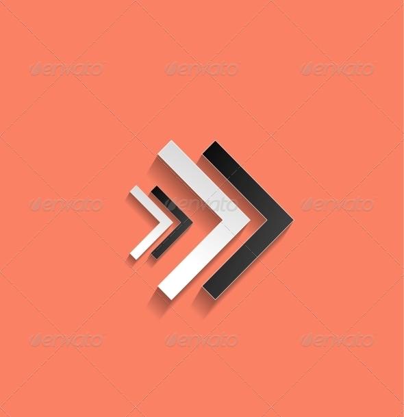 GraphicRiver Vector Arrow Flat Icon 5327609