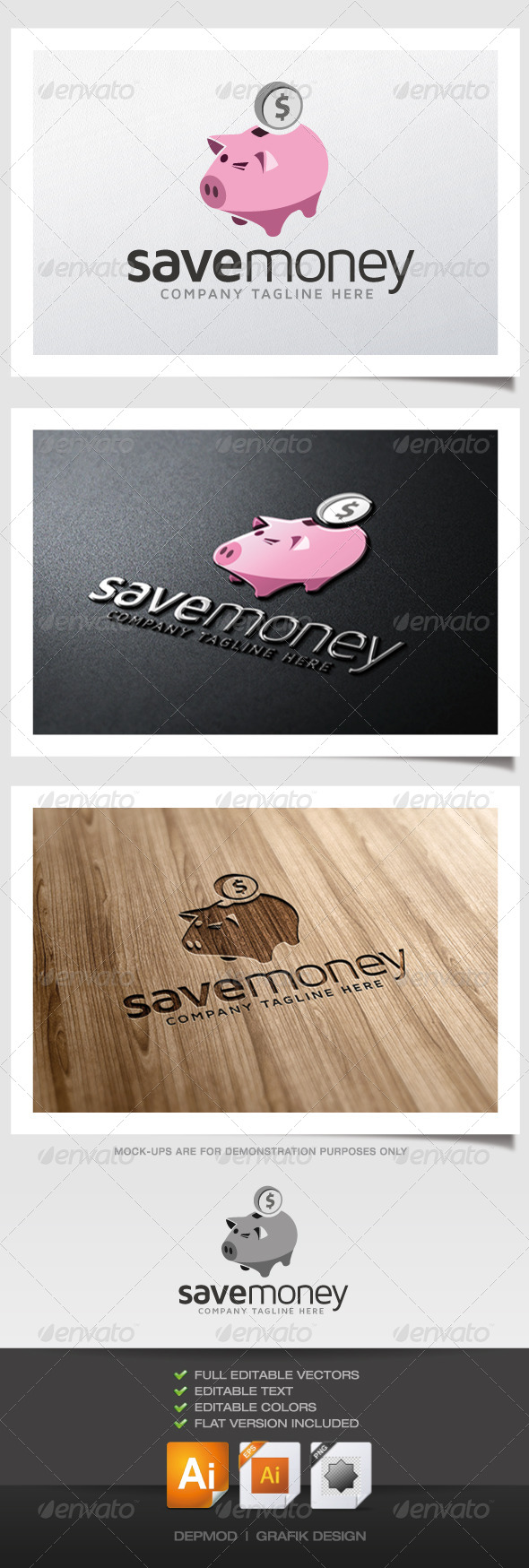 Save Money Logo - Objects Logo Templates