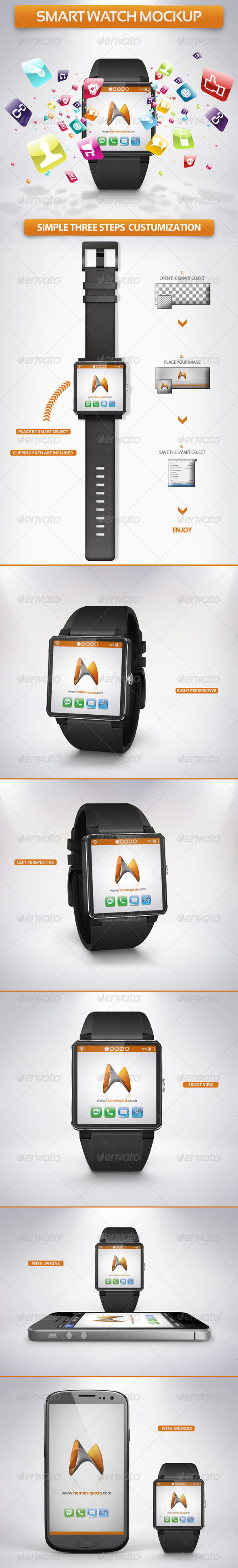 GraphicRiver Smart Watch Mockup 5328331