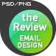 'The Review' E-newsletter Design - GraphicRiver Item for Sale