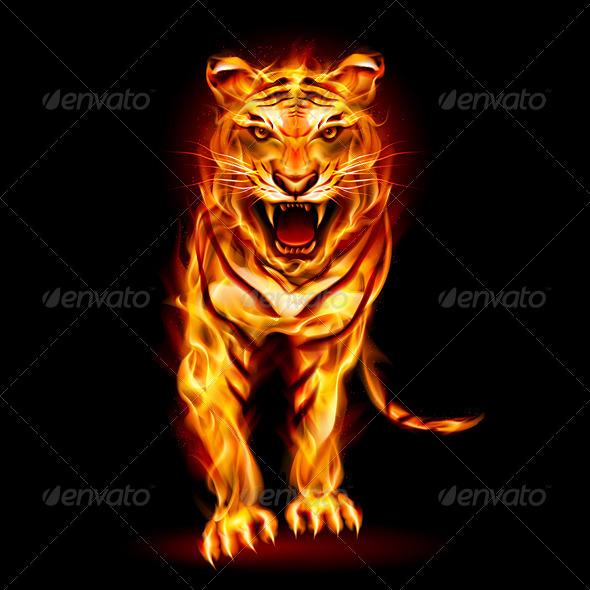 GraphicRiver Fire Tiger 5329080