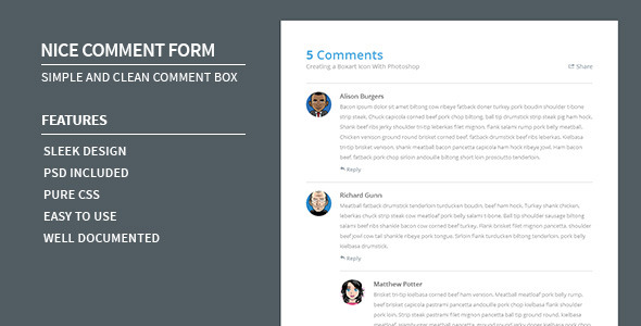 CodeCanyon Nice Comment Form 5329929
