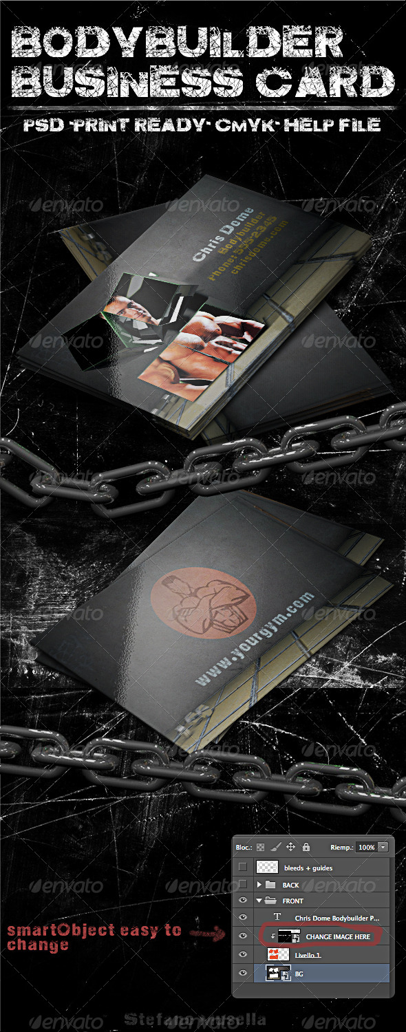 GraphicRiver Body Builder Business Card 5280387