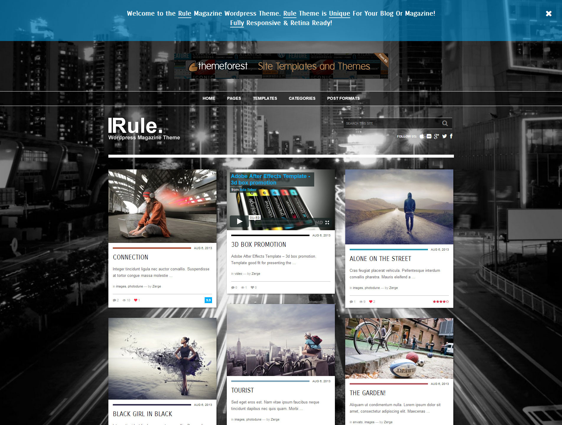 Rule - Retina Responsive WordPress Theme - Home Page