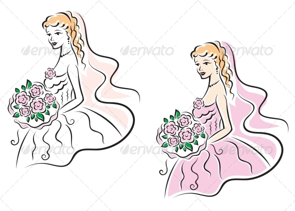 GraphicRiver Young Pretty Bride on Wedding Ceremony 5330327