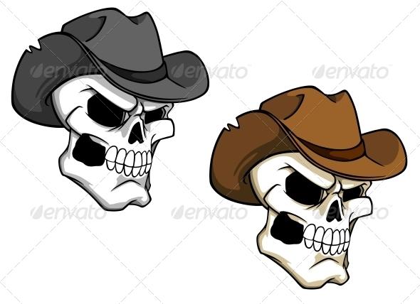 GraphicRiver Cowboy Skull 5330358