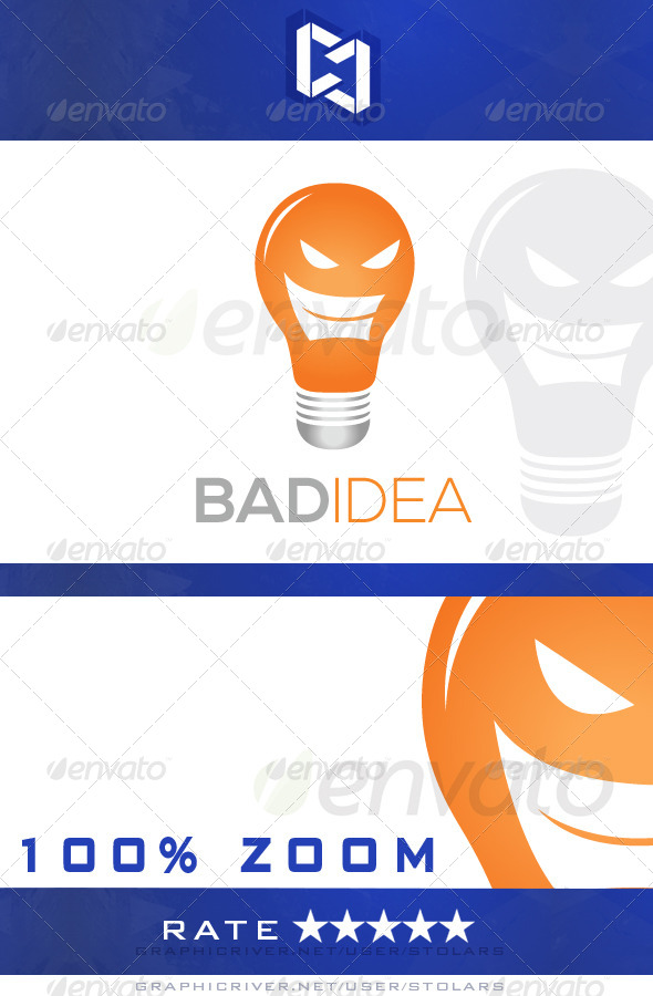 GraphicRiver Bad Idea Logo 5323024