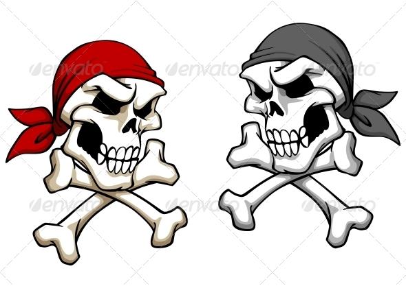 GraphicRiver Danger Pirate Skull 5330599