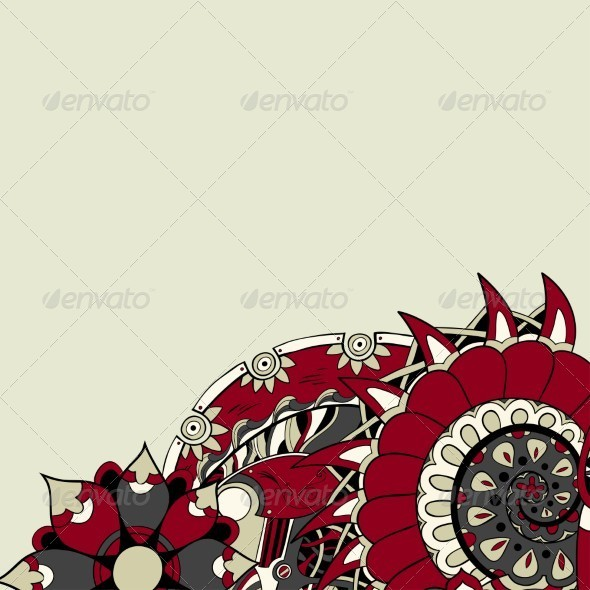 GraphicRiver Wedding Card or Invitation with Ornament 5332148