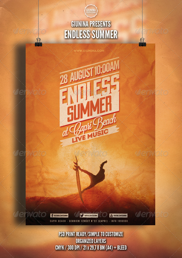GraphicRiver Endless Summer Flyer Poster 5255753