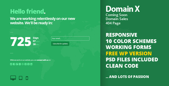 Domain X (Coming Soon, Domain Sale, 404)