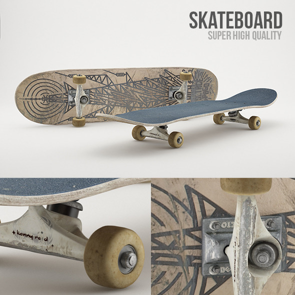 Skateboard Photorealistic - 3DOcean Item for Sale