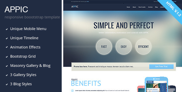 ThemeForest Appic Business & Technology Bootstrap Template 5318285