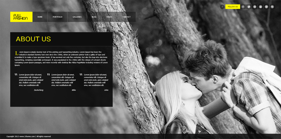 """Full Fashion"" - an Ajax Fullscreen WP Theme"