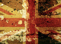 Grunge UK flag on an old wall - PhotoDune Item for Sale