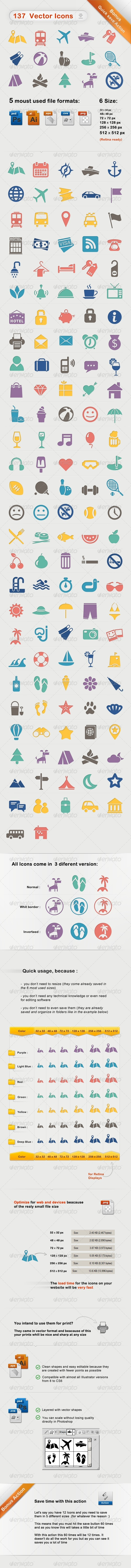 GraphicRiver Vacation Travel Hotel Icons Optimize For Web Print 5334792