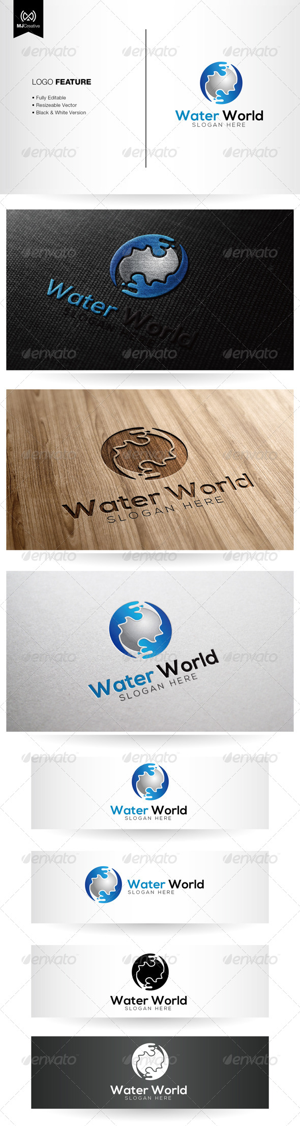 GraphicRiver Water World Logo 5334927