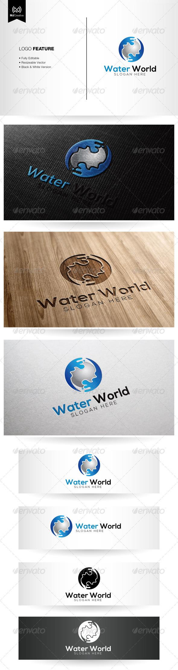 GraphicRiver Water World Logo 5334927