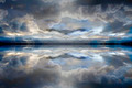 Blue reflected clouds background - PhotoDune Item for Sale