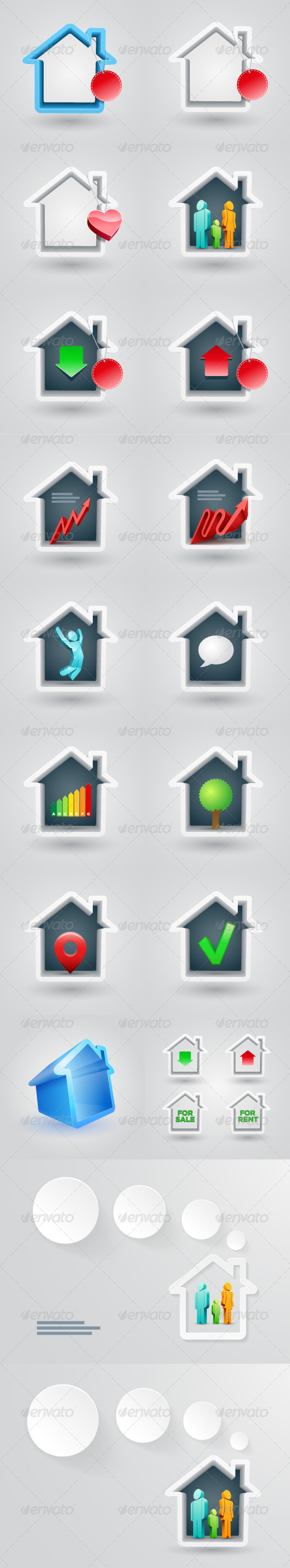 GraphicRiver House Icon Set 5334944
