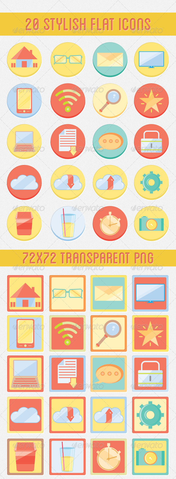 GraphicRiver Flat Web Icon Set 5335631