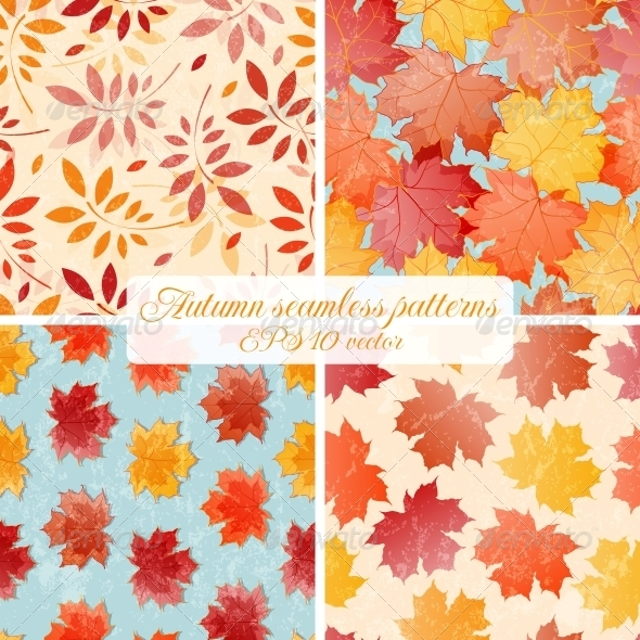GraphicRiver Set of Seamless Autumn Patterns 5335671