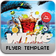 White Beach Flyer Template - GraphicRiver Item for Sale