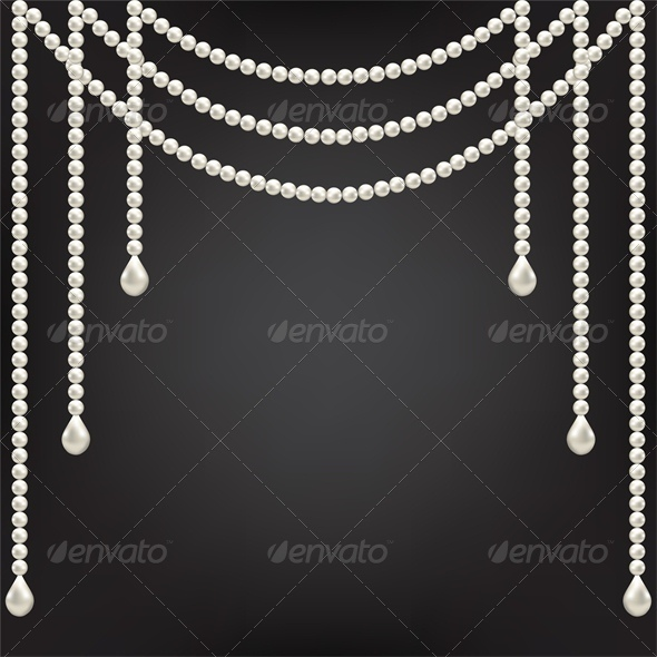GraphicRiver Black Background with Pearl Decoration 5337143