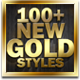 100+ New Gold Styles - GraphicRiver Item for Sale