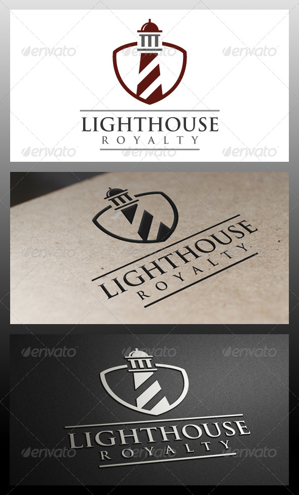 GraphicRiver Lighthouse Shield Logo Template 5337823