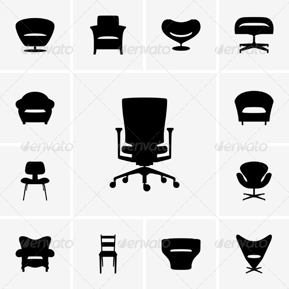 GraphicRiver Modern Chairs 5338468