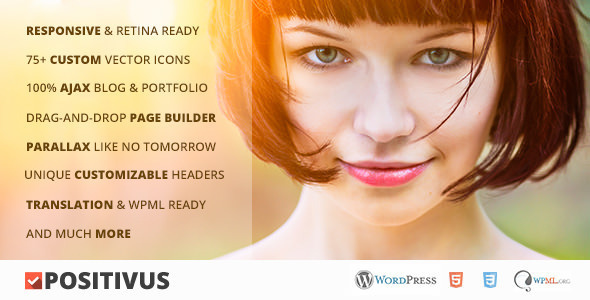 ThemeForest Positivus Multipurpose AJAX Blog Portfolio Theme 5338553