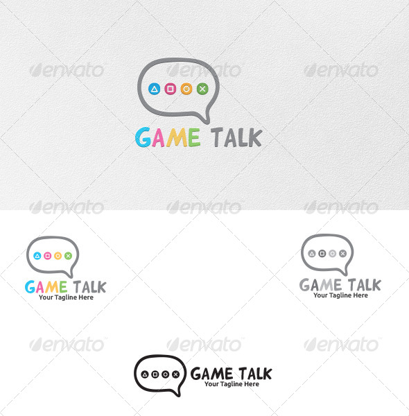 GraphicRiver Game Talk Logo Template 5338972