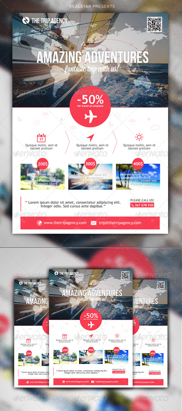 GraphicRiver The Trip Agency Corporate Commerce Flyer 5257313
